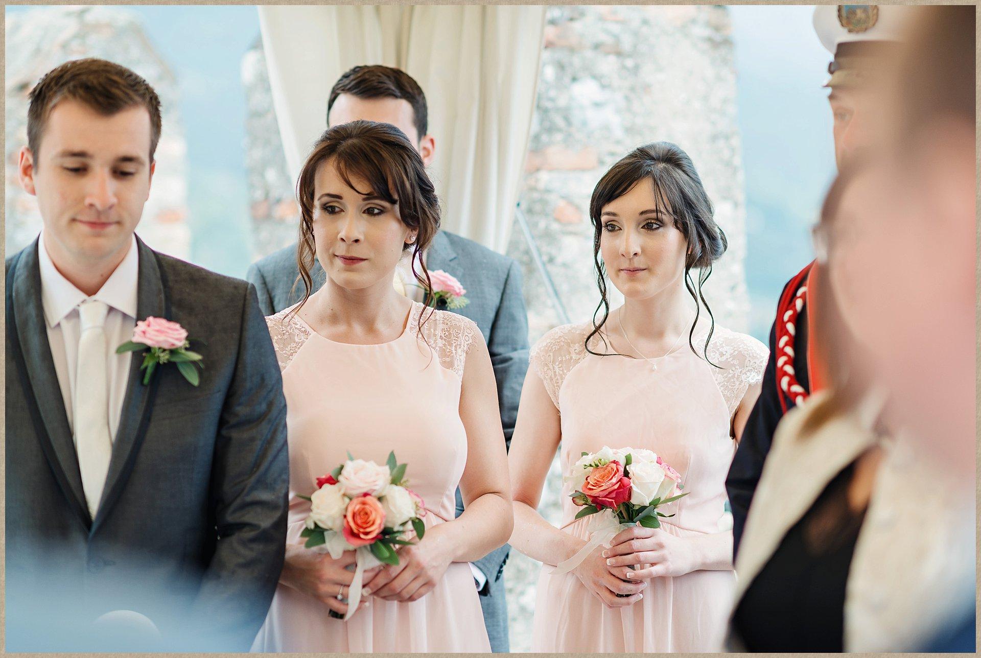 bridesmaids - Malcesine Castle wedding