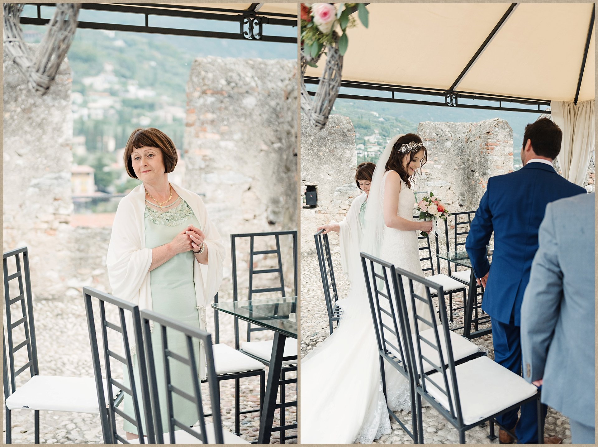 Rainy Malcesine Castle wedding