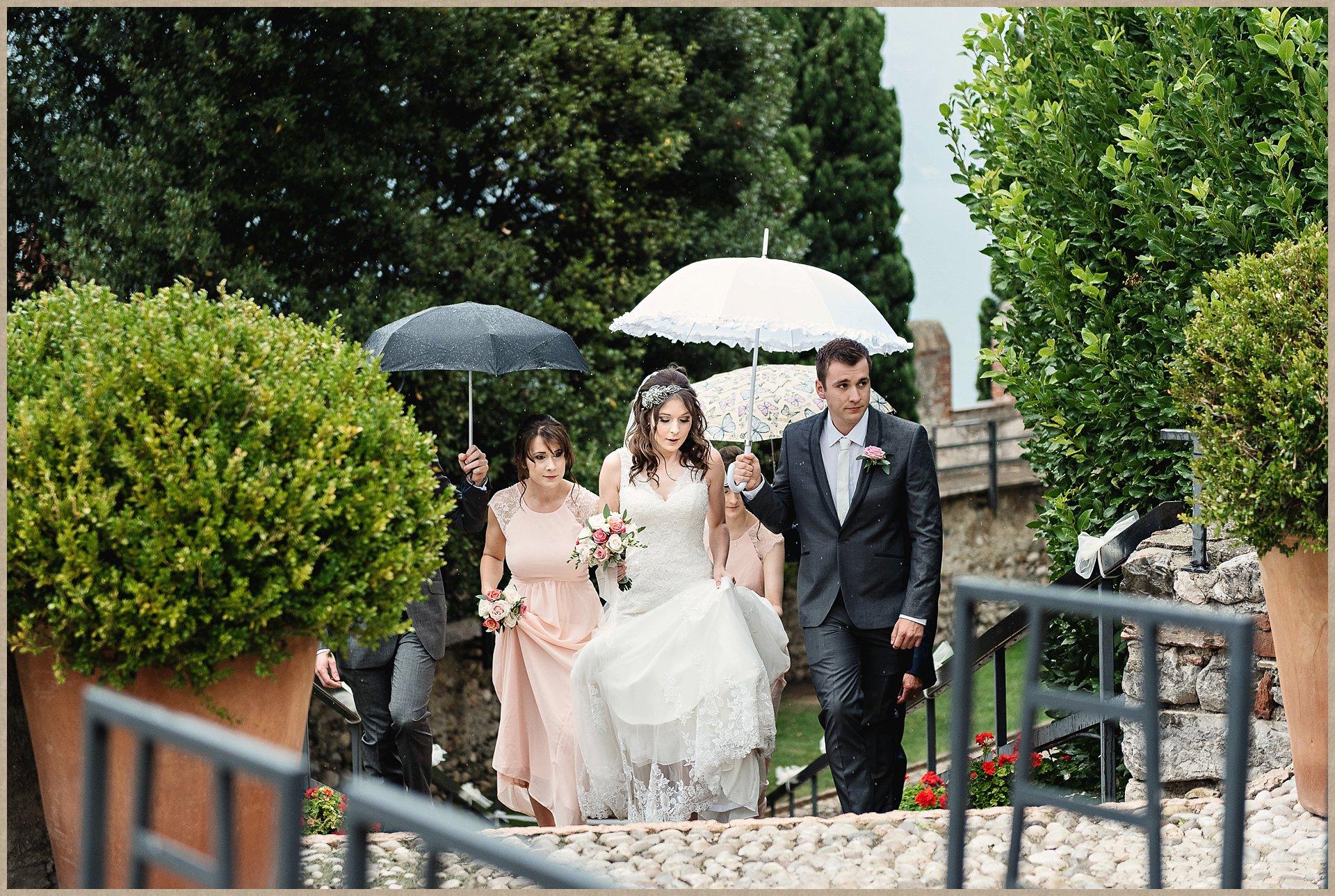 malcesine castle bridal party arrives