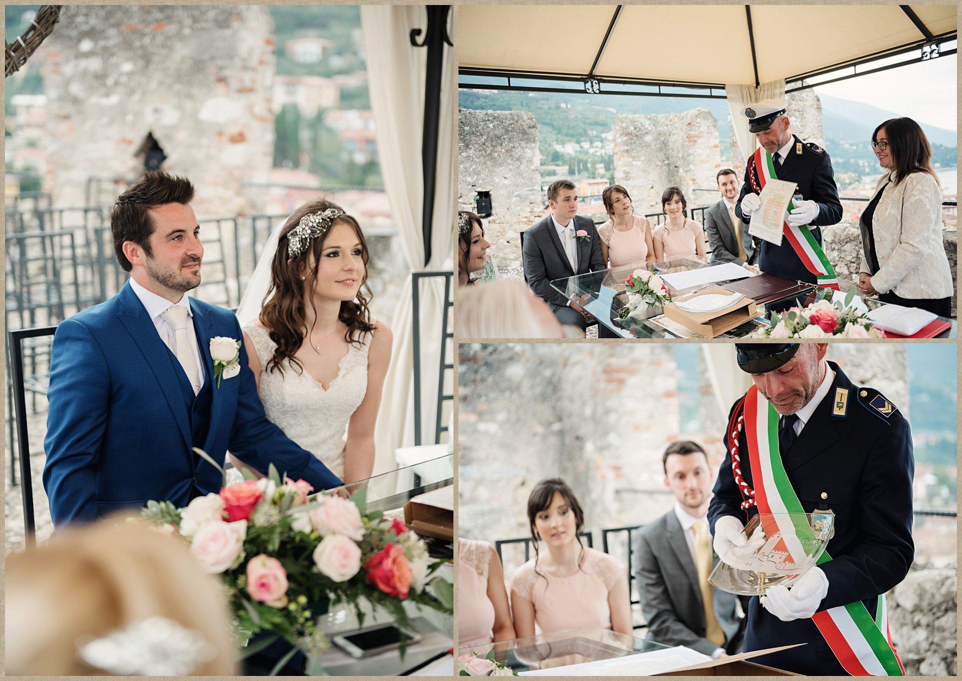 Malcesine Castle wedding - civil ceremony Italy Lake Garda