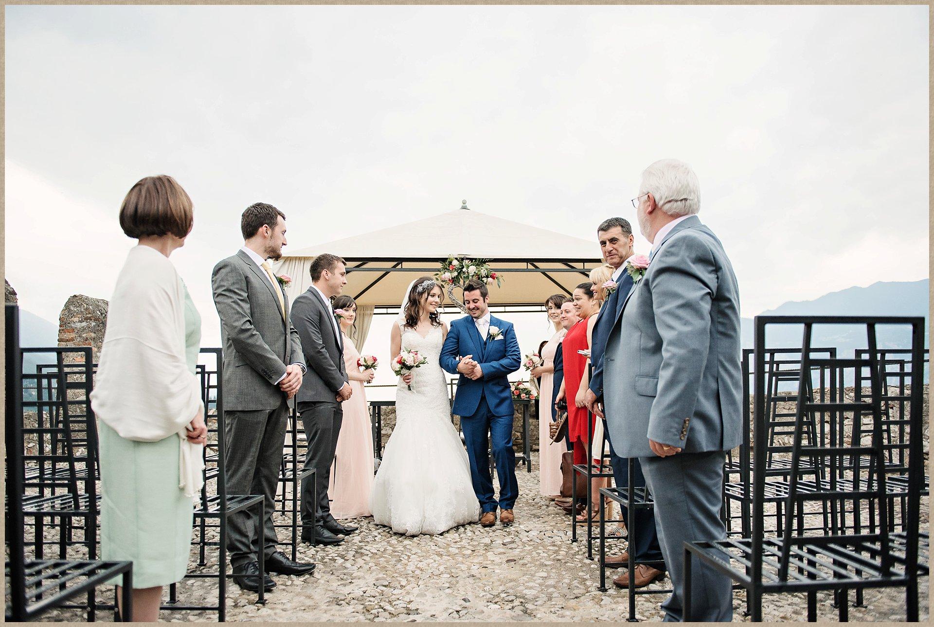 Wedding procession - Malcesine castle