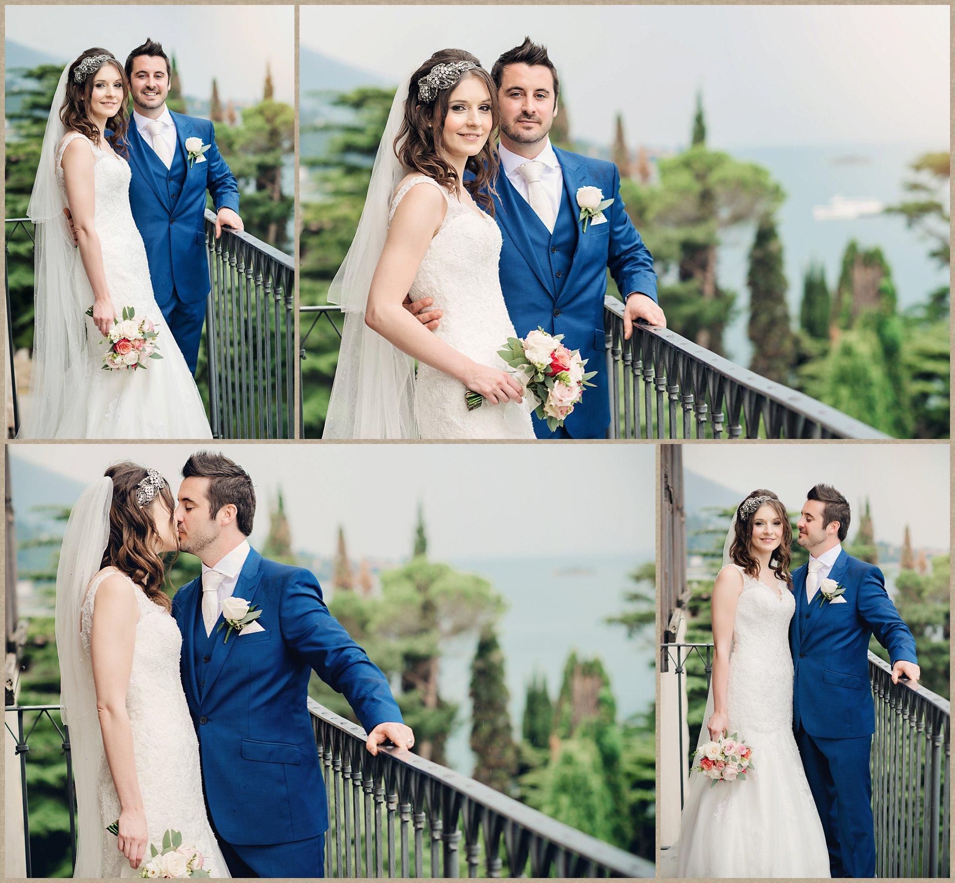 Malcesine Castle wedding balcony - photographer