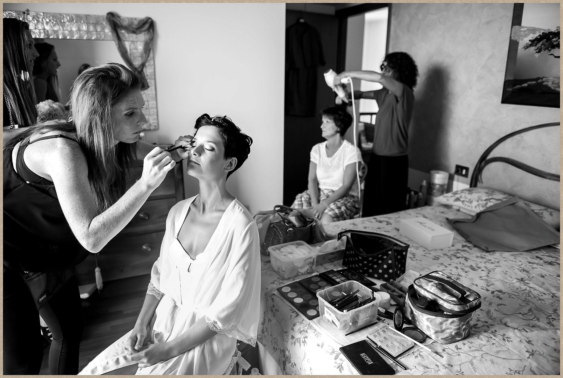 lake garda wedding make-up