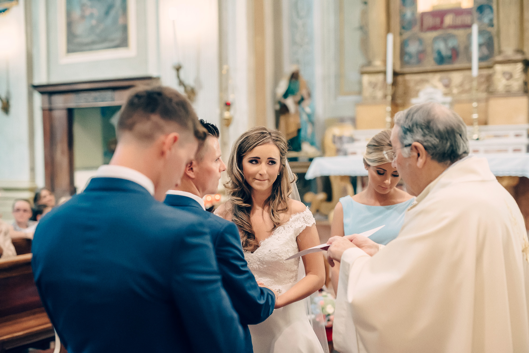 Catholic church wedding lake garda italy